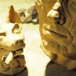 clay-faces-dog+man_pose